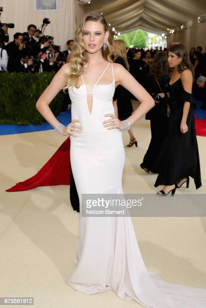 Behati Prinsloo attends the 'Rei Kawakubo/Comme des Garcons Art Of The InBetween' Costume Institute Gala at Metropolitan Museum of Art on May 1 2017...