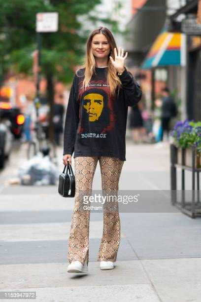 Behati Prinsloo is seen in NoHo on June 05, 2019 in New York City.