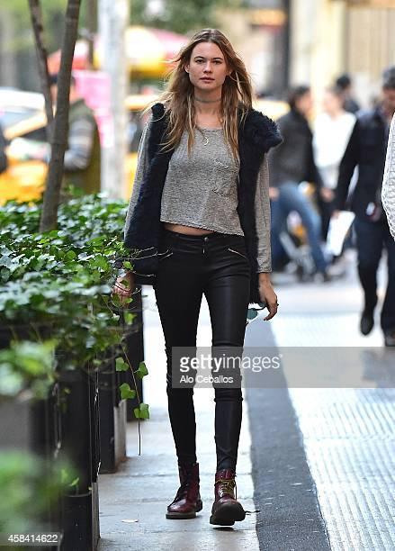 Behati Prinsloo is seen in Soho on November 4 2014 in New York City
