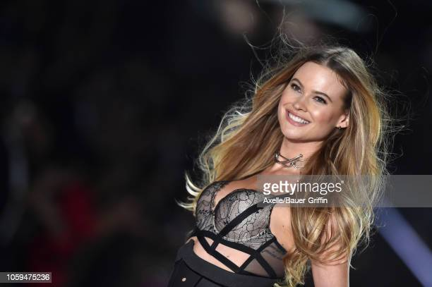 Behati Prinsloo walks the runway during the 2018 Victoria's Secret Fashion Show at Pier 94 on November 8 2018 in New York City