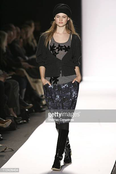 Behati Prinsloo wearing Max Azria Collection Fall 2006