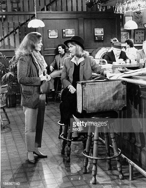 CHEERS 'Behind Every Great Man' Episode 19 Air Date Pictured Shelley Long as Diane Chambers Alison La Placa as Paula Nelson