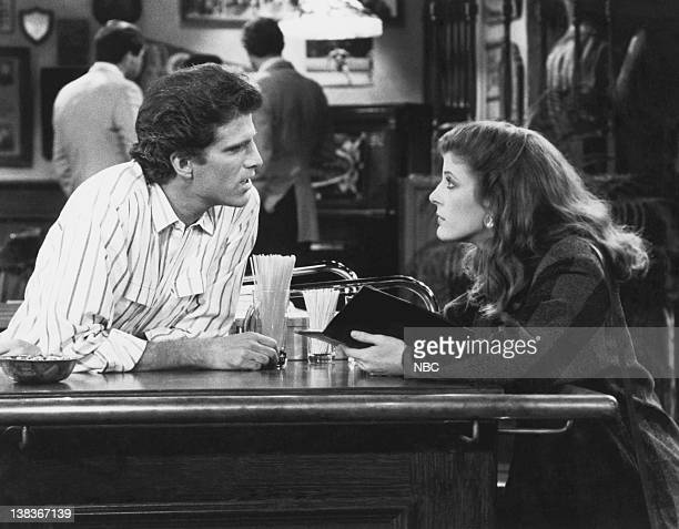 CHEERS 'Behind Every Great Man' Episode 19 Air Date Pictured Ted Danson as Sam Malone Alison La Placa as Paula Nelson