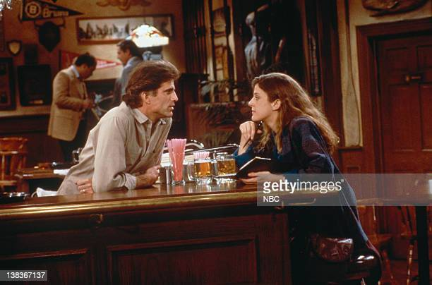 CHEERS 'Behind Every Great Man' Episode 19 Pictured Ted Danson as Sam Malone Alison La Placa as Paul Nelson
