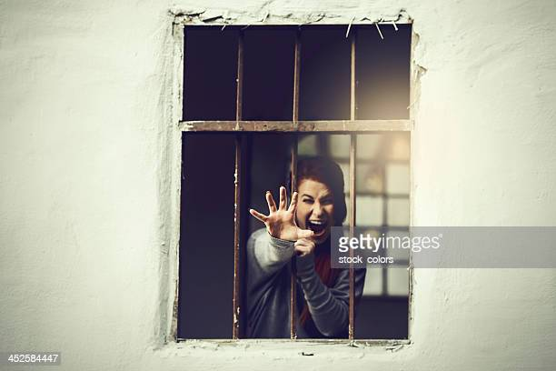 behind the bars - punishment of slaves stock photos and pictures