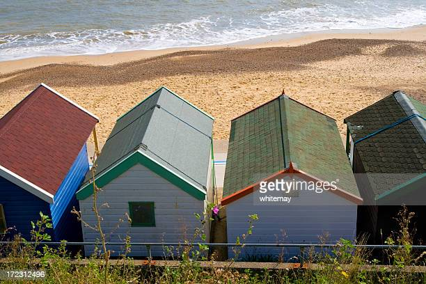 behind the beach huts - butlins stock pictures, royalty-free photos & images