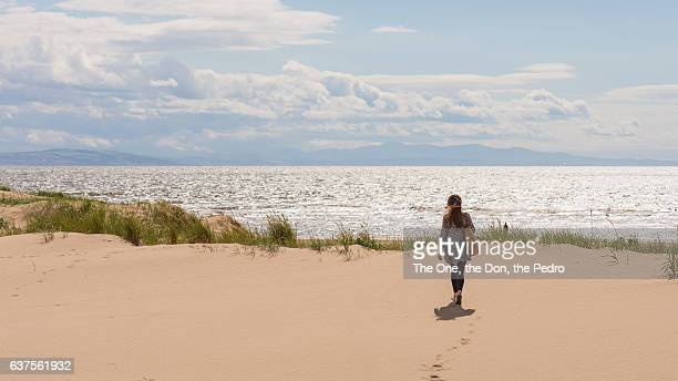 behind the sand dunes - northwest england stock pictures, royalty-free photos & images