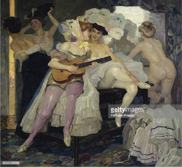Behind the Scenes, 1905. Private Collection. Artist : Putz, Leo .