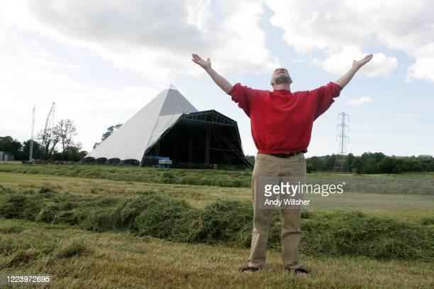 Behind the scenes at Glastonbury Festival with Michael and Emily Eavis in 2005