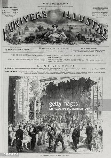 Behind the scenes at the Opera Garnier in Paris illustration from L'Univers Illustre January 2 1875 France 19th century