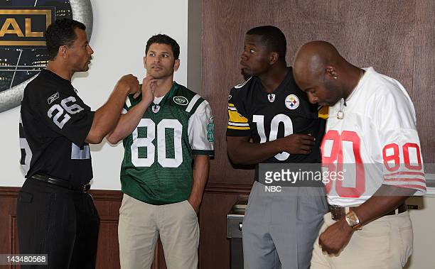 DEAL Behind the Scenes Episode 302 Pictured NFL Players Rod Woodson of the Oakland Raiders Wayne Chrebet of the New York Jets Kordell Stewart of the...