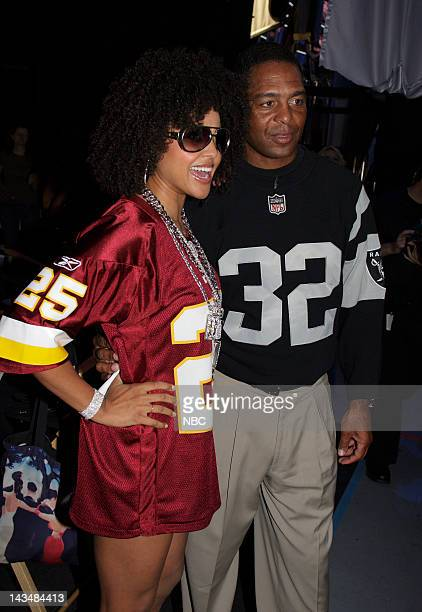 DEAL Behind the Scenes Episode 302 Pictured Suitcase Model Hayley Marie Norman and NFL Player Marcus Allen of the Oakland Raiders on July 31 2007