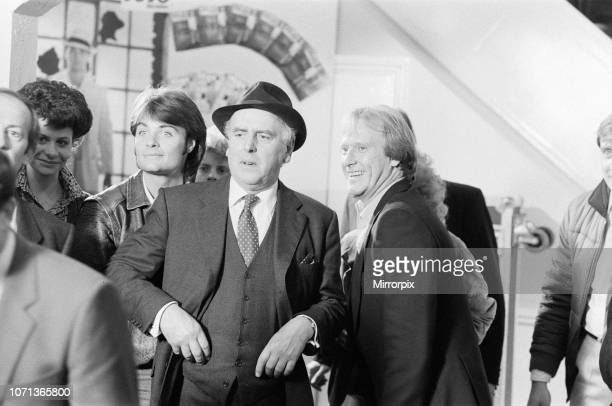 Behind the scenes filming of Minder a British comedy drama TV Series set in the London criminal underworld fourth series episode 'A Star is Gorn'...
