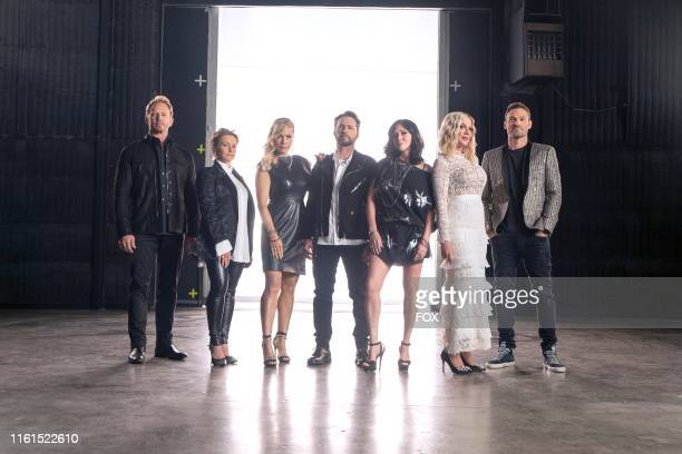 Behind the scenes Ian Ziering Gabrielle Carteris Jennie Garth Jason Priestley Shannen Doherty Tori Spelling and Brian Austin Green BH90210 the highly...