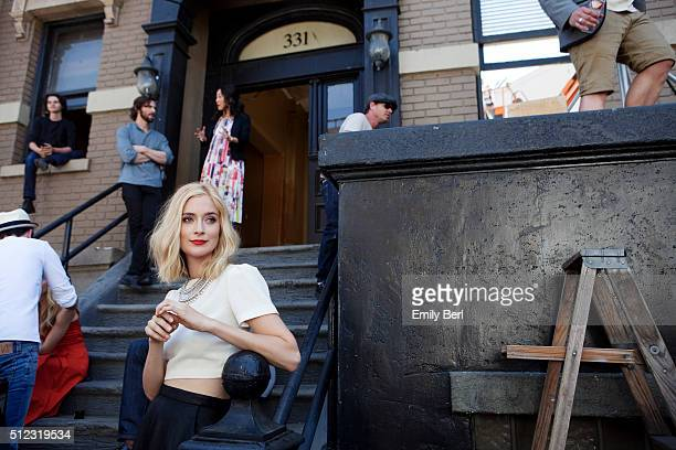 Behind the scenes of Caitlin FitzGerald at the The Hollywood Reporter 2014 Emmy Supporting Actor Portrait BTS at the New York Street at 20th Century...