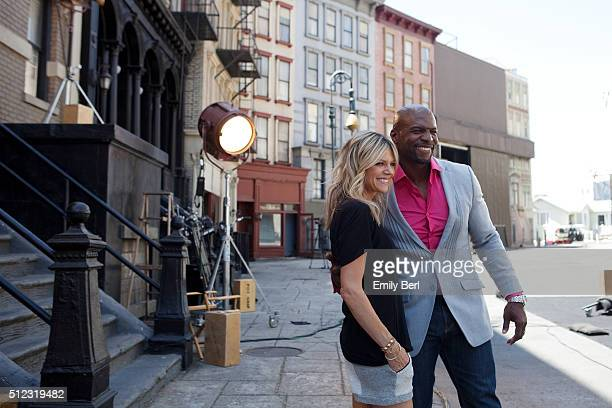 Behind the scenes of Kaitlin Olson and Terry Crews at the The Hollywood Reporter 2014 Emmy Supporting Actor Portrait BTS at the New York Street at...