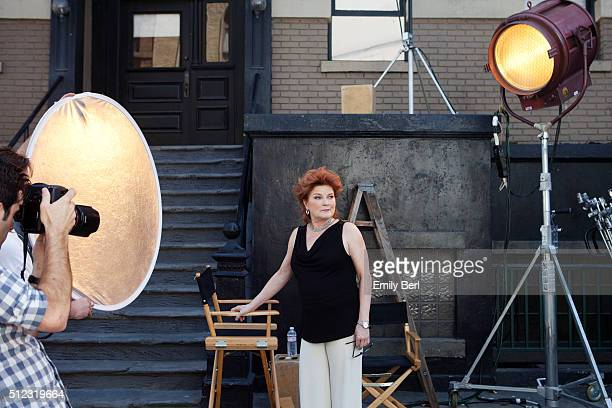 Behind the scenes of Kate Mulgrew at the The Hollywood Reporter 2014 Emmy Supporting Actor Portrait BTS at the New York Street at 20th Century Fox...