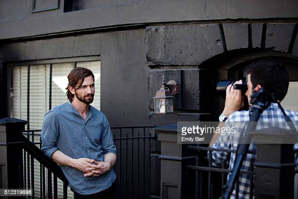 Behind the scenes of Michiel Huisman at the The Hollywood Reporter 2014 Emmy Supporting Actor Portrait BTS at the New York Street at 20th Century Fox...