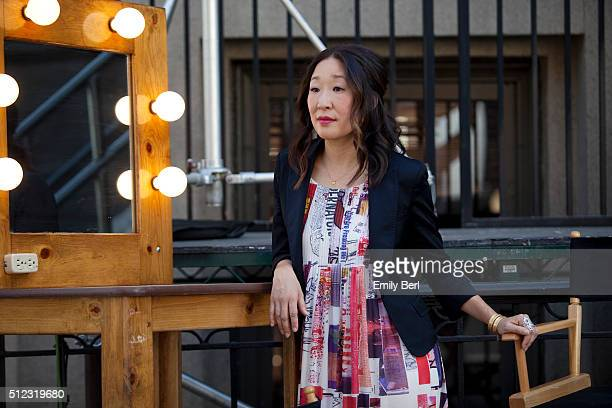 Behind the scenes of Sandra Oh at the The Hollywood Reporter 2014 Emmy Supporting Actor Portrait BTS at the New York Street at 20th Century Fox...