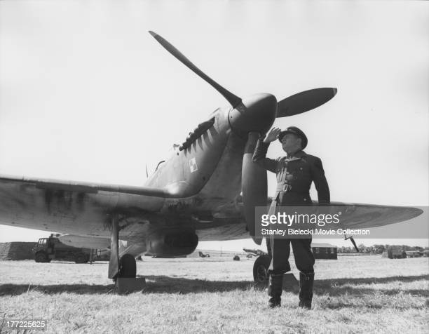 Behind the scenes of 'The Battle of Britain' with actor Mark Malicz a British film depicting the World War II air battle 1969