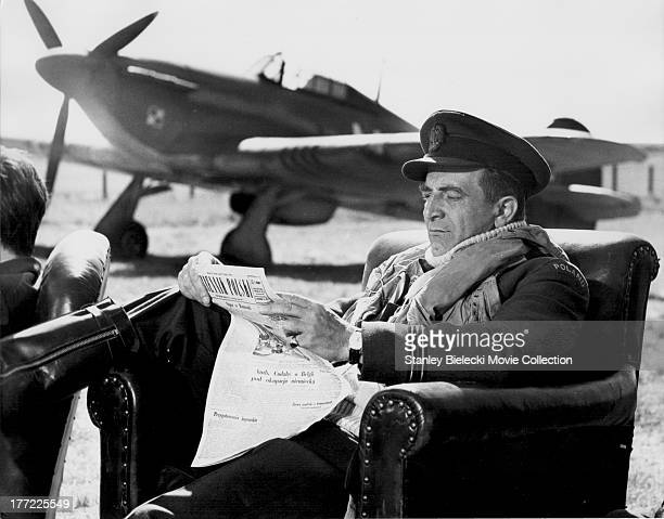 Behind the scenes of 'The Battle of Britain' with actor Robert Oleksowicz a British film depicting the World War II air battle 1969