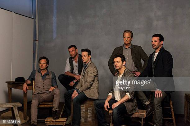 Behind the scenes of The Hollywood Reporter Drama Actor Roundtable with Jeff Daniels John Hamm Michael Sheen Live Schreiber Mark Ruffalo and Josh...