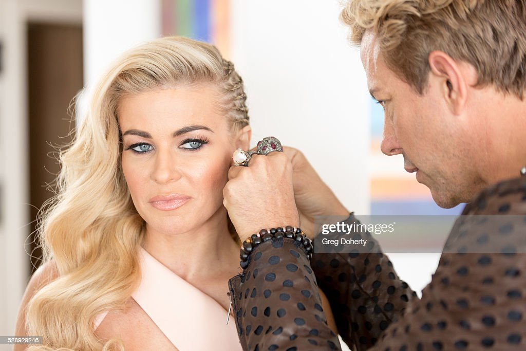 Behind The Scenes Shoot With Carmen Electra For LaPalme Magazine : News Photo