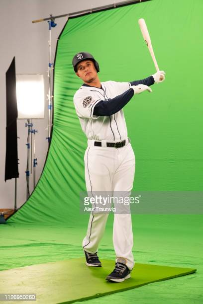 Behind the scenes photos of Manny Machado of the San Diego Padres during a shoot for MLB Network on Friday February 22 2019 in Phoenix Arizona