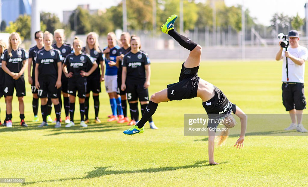 A behind the scenes view during the Allianz Women's Bundesliga Club Tour on September 2, 2016 in Frankfurt, Germany.