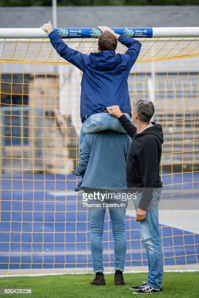 A behind the scenes view pictured during the Allianz Frauen Bundesliga Club Tour at the ErnstAbbeSportfeld on August 11 2017 in Jena Germany