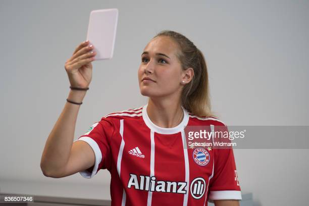 A behind the scenes view pictured during the Allianz Frauen Bundesliga Club Tour at FC Bayern Campus on August 20 2017 in Munich Germany