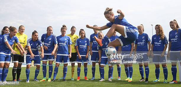 A behind the scenes view pictured during the Allianz Women's Bundesliga Tour on August 17 2016 in Willstatt Germany