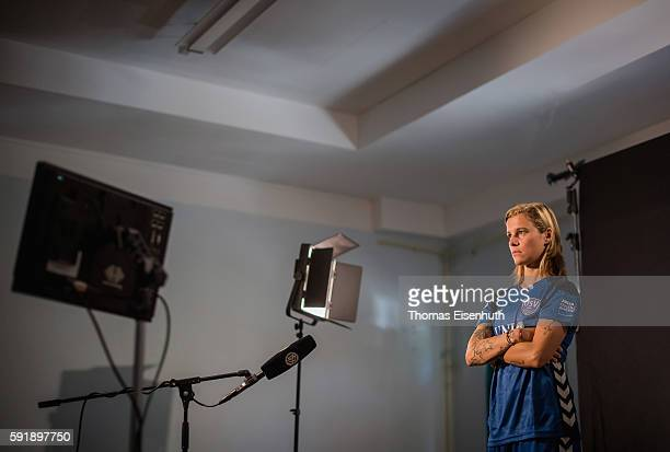 A behind the scenes view pictured during the Allianz Women's Bundesliga Tour on August 18 2016 in Jena Germany