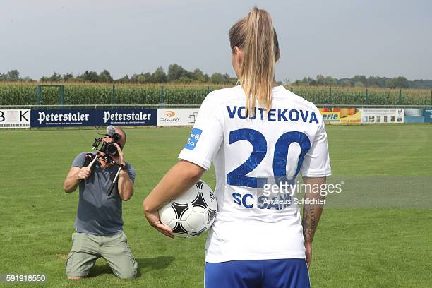 A behind the scenes view pictured during the Allianz Women´s Bundesliga Tour on August 17 2016 in Willstatt Germany