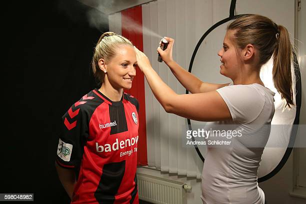 A behind the Scenes view pictured during the Allianz Women's Bundesliga Tour on August 31 2016 in Freiburg im Breisgau Germany