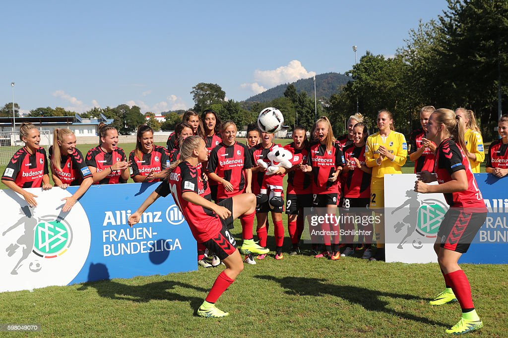 A behind the Scenes view pictured during the Allianz Women's Bundesliga Tour on August 31, 2016 in Freiburg im Breisgau, Germany.