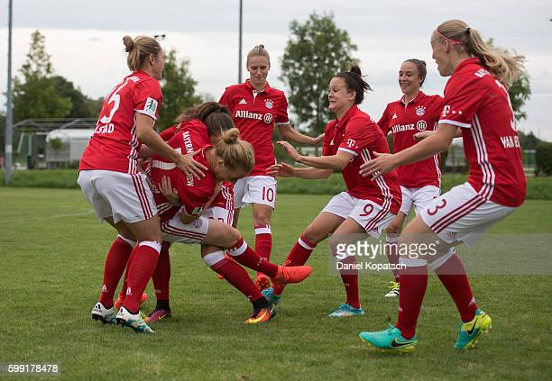 A behind the scenes view pictured during the Allianz Women's Bundesliga Club Tour on September 4 2016 in Aschheim Germany