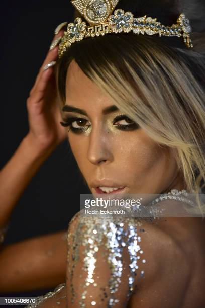 Behind the scenes with Madame Kaila Methven KFC Heiress wearing $10 million in jewelry being photographed by Michael Bezjian for JMG Lifestyle during...