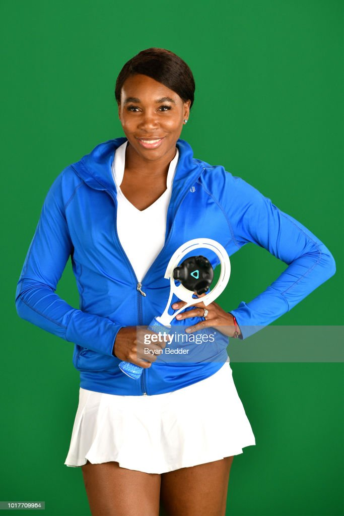 Behind the scenes with Venus Williams for the American Express Super Rally Fan Activation at the 2018 US Open on July 20, 2018 in New York City.