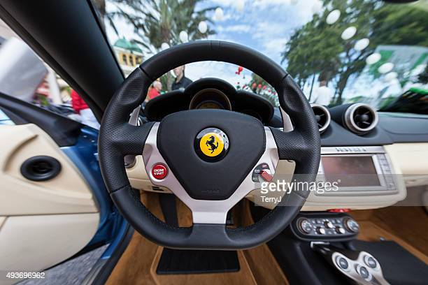 behind the wheel of a ferrari - ferrari stock pictures, royalty-free photos & images