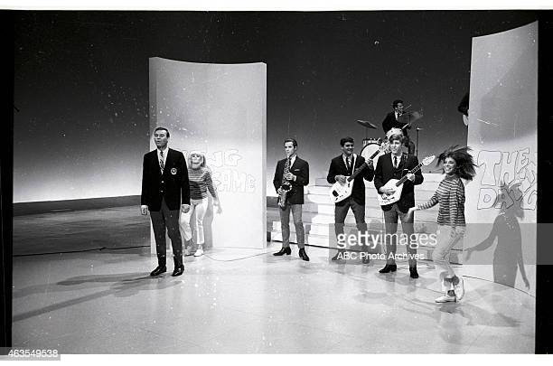 Behind-the-Scenes Coverage of Show Premiere - Airdate: November 19, 1965. HOST JIM LANGE WITH THE REGENTS AND DANCERS ELLEN FRIEDMAN AND ANITA MANN