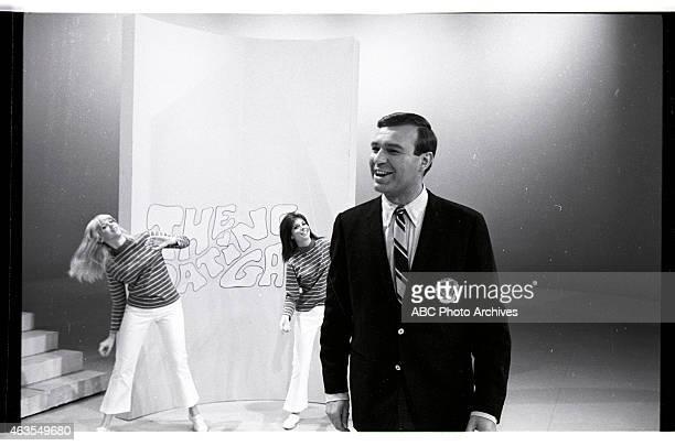 GAME BehindtheScenes Coverage of Show Premiere Airdate November 19 1965 HOST JIM LANGE WITH DANCERS ELLEN FRIEDMAN AND