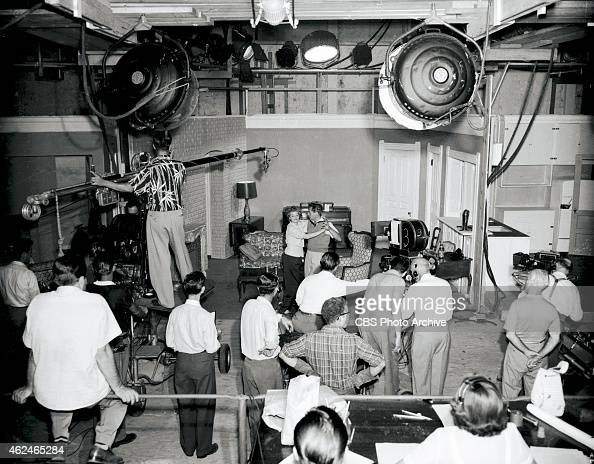 A Behind The Scenes Shot On Set Of I Love Lucy In Center