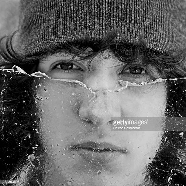 behing the ice - of deformed people stock pictures, royalty-free photos & images