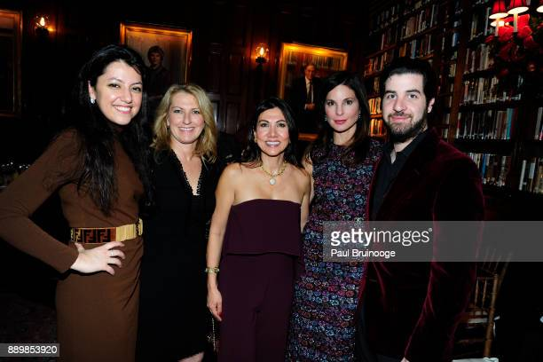 Behnaz Baker Colleen Sparta Dr Carla Simonian Christine Implicito and Omar Baker attend the Hackensack University Medical Center Foundation Holiday...