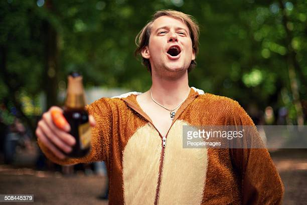 behold the party animal - binge drinking stock photos and pictures