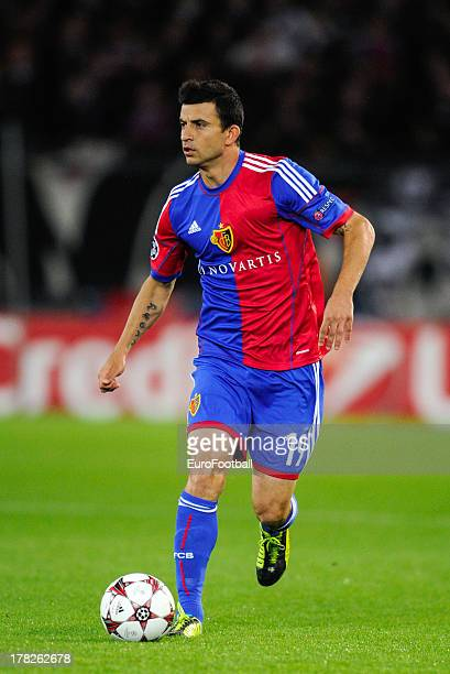 Behrang Safari of FC Basel 1893 in action during the UEFA Champions League playoff second leg match between FC Basel 1893 and PFC Ludogorets Razgrad...