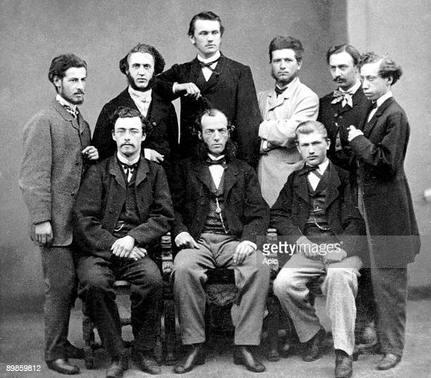 Behrend Eich Glaser August Kekule Wilhelm Kerner Albert Ladenburg August Mayer Semmel Theodore Swarts and Kekule and disciples at University of Ghent...