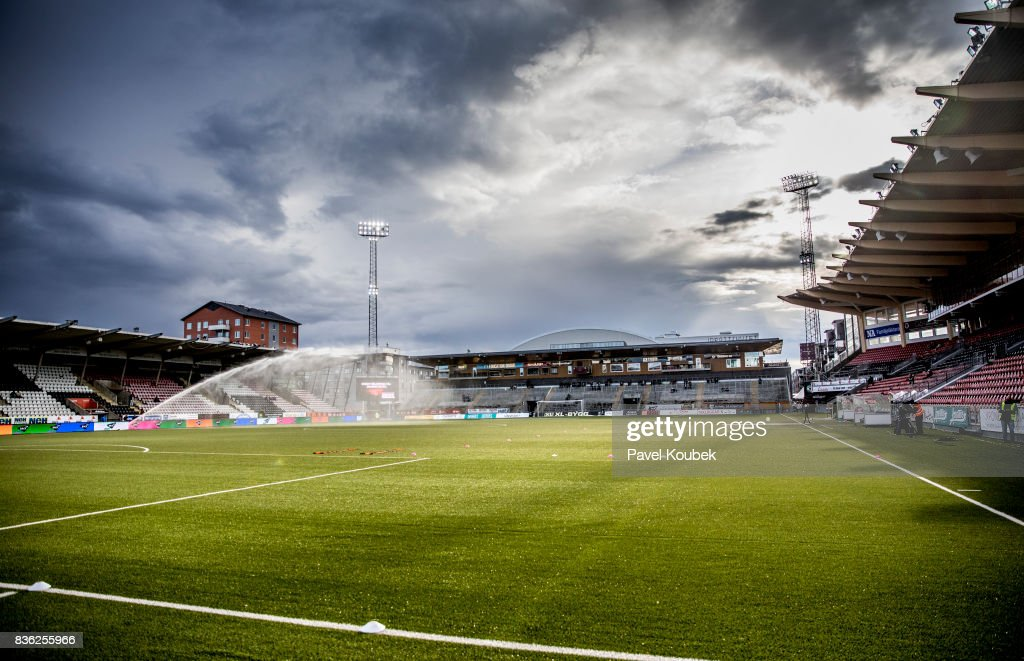 Behrn Arena during the Allsvenskan match between Orebro SK and Hammarby IF at Behrn Arena on August 21, 2017 in Orebro, Sweden.