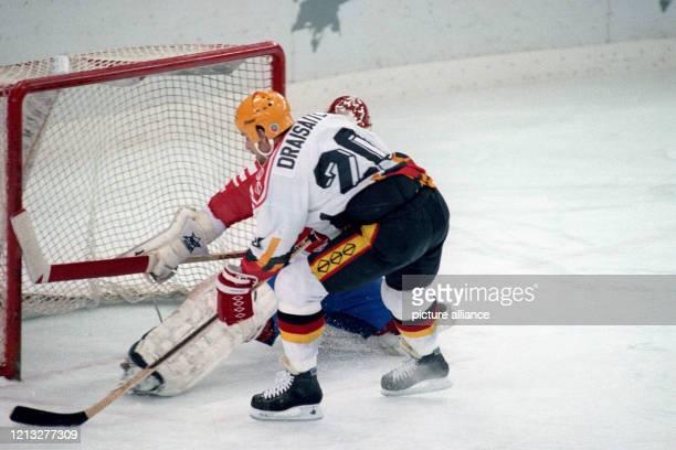 Bei den Olympischen Winterspielen 1992 in Albertville verliert die deutsche Eishockey-Nationalmannschaft a. Im Viertelfinale gegen Kanada mit 3:4 im...